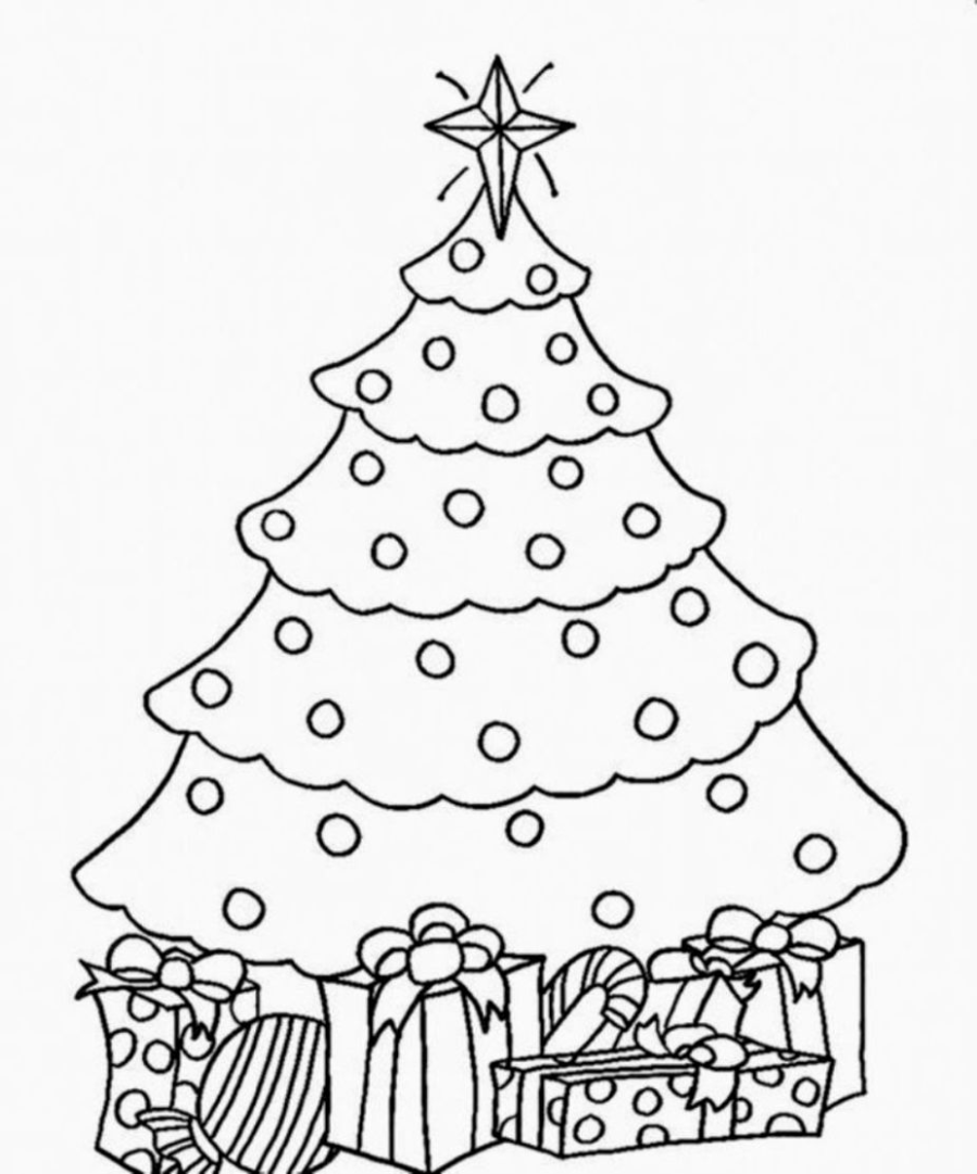 coloring christmas tree coloring pages christmas tree