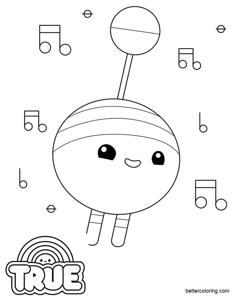 beepaw from true and the rainbow kingdom coloring pages