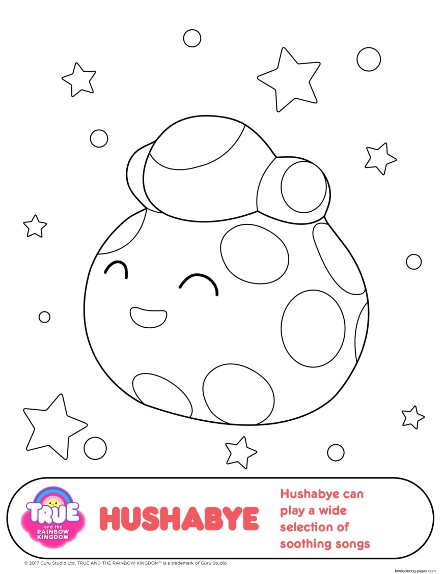 hushae 1 true and the rainbow kingdom coloring pages