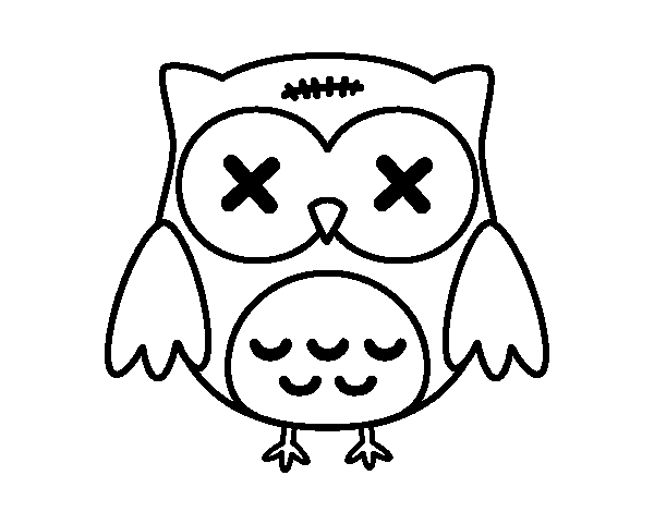 halloween owl coloring page coloringcrew