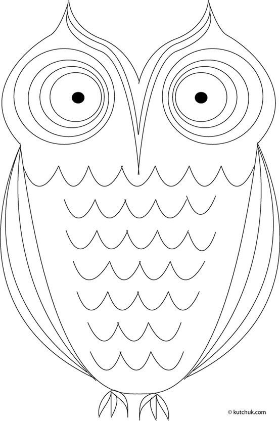 owl template owl coloring pages owl templates
