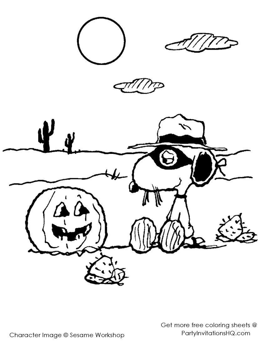 spike halloween snoopy coloring pages snoopy halloween
