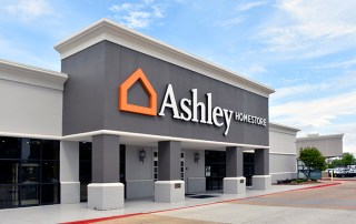 Ashley Homestore Building Sign. Shreveport, LA