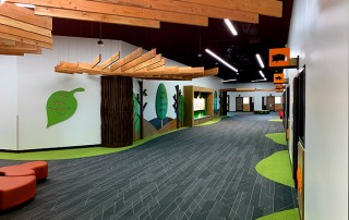The Grove Classroom area Interior Wall Covering. Midlothian, TX