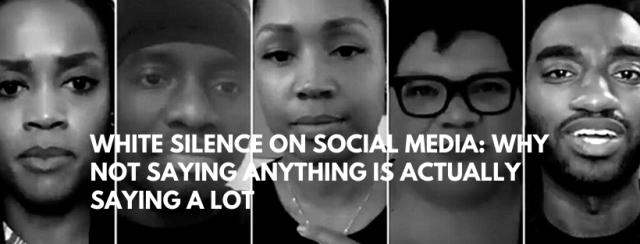 White silence on social media
