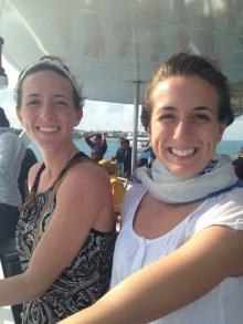Battling the wind on the ferry to Zanzibar