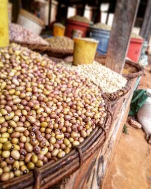 Beans in the Sumbawanga market