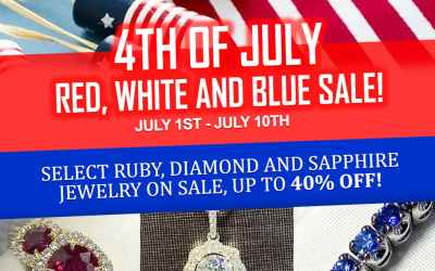 4th of July Red, White and Blue Sale
