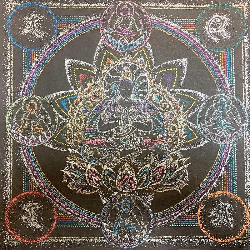 大日如来中心の「成身会」金剛曼荼羅/点描曼荼羅1