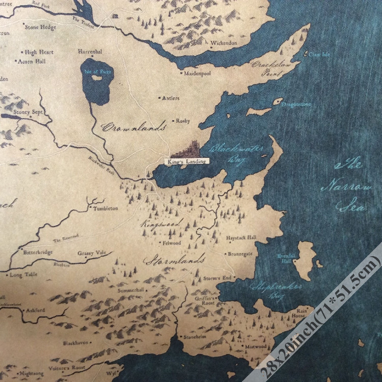 game of thrones old map vintage paper poster wall decor