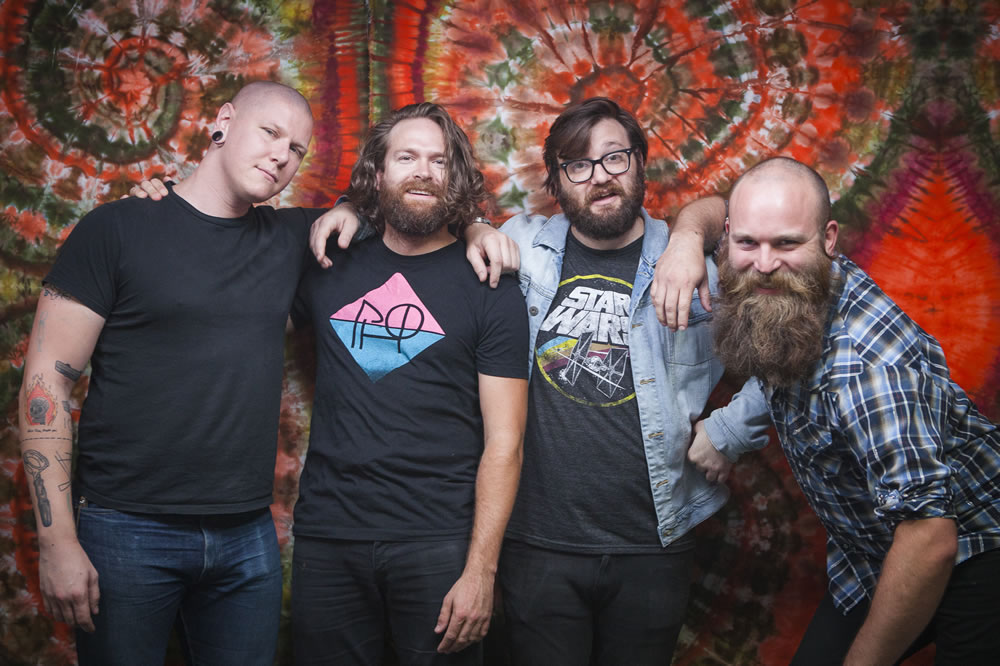 The 4onthefloor, Minneapolis rockers, pose at The White Wall Sessions in Sioux Falls.