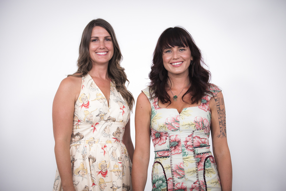 Dusty Heart is Molly Dean and Barbara Jean, Folk Music Duo smiling at the white wall sessions