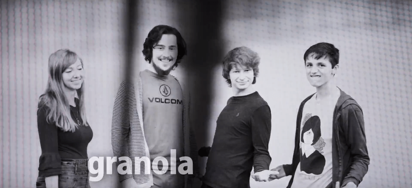 Granola, a Sioux Falls indie rock band, smile and make faces at the camera
