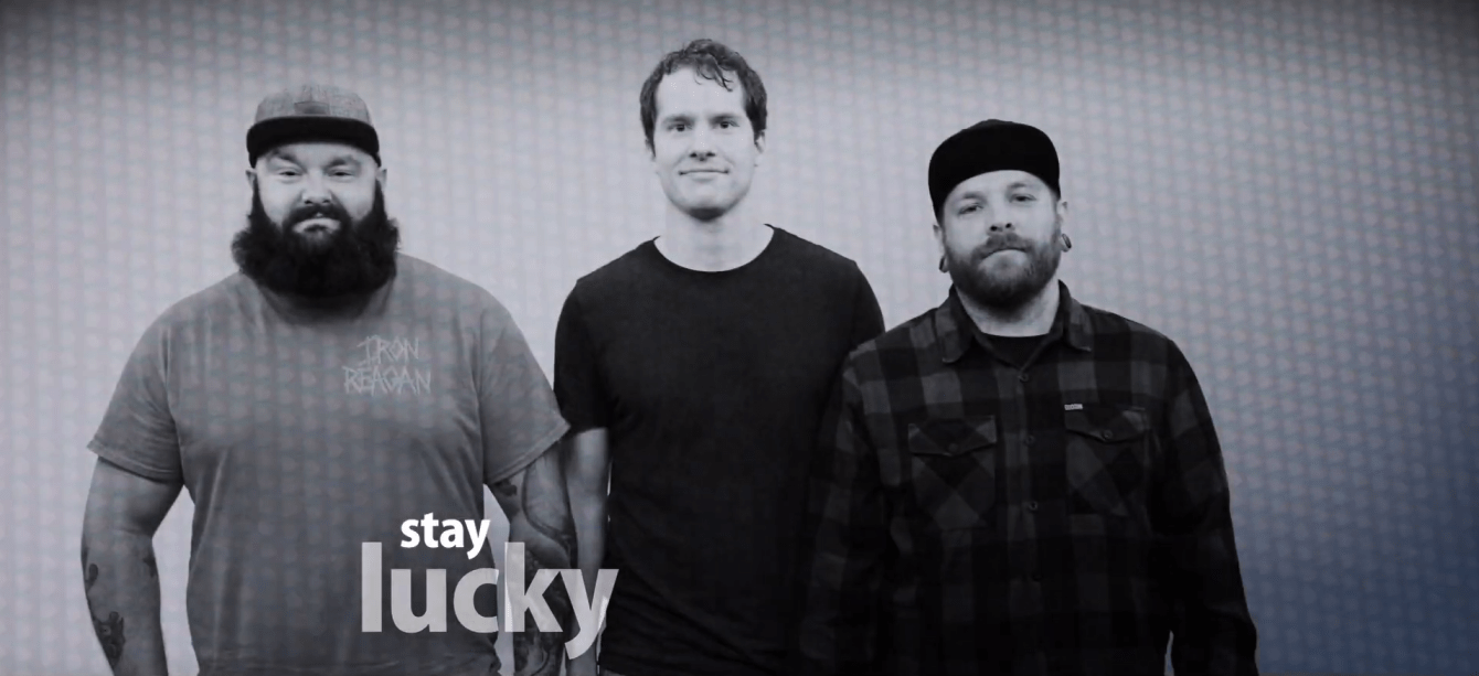 Sioux Falls' pop-punk band, Stay Lucky, stare stoically at the camera
