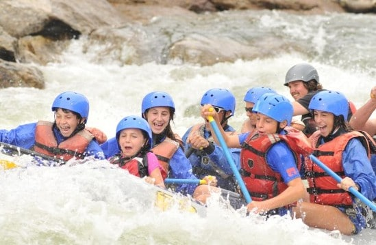 Colorado whitewater rafting at high water.