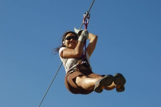 Family vacation ideas in Colorado: Zip line tours.