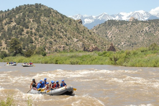 Raft the Arkansas River with kids.