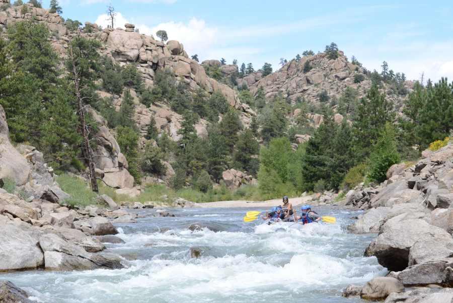 Fall rafting in Colorado.