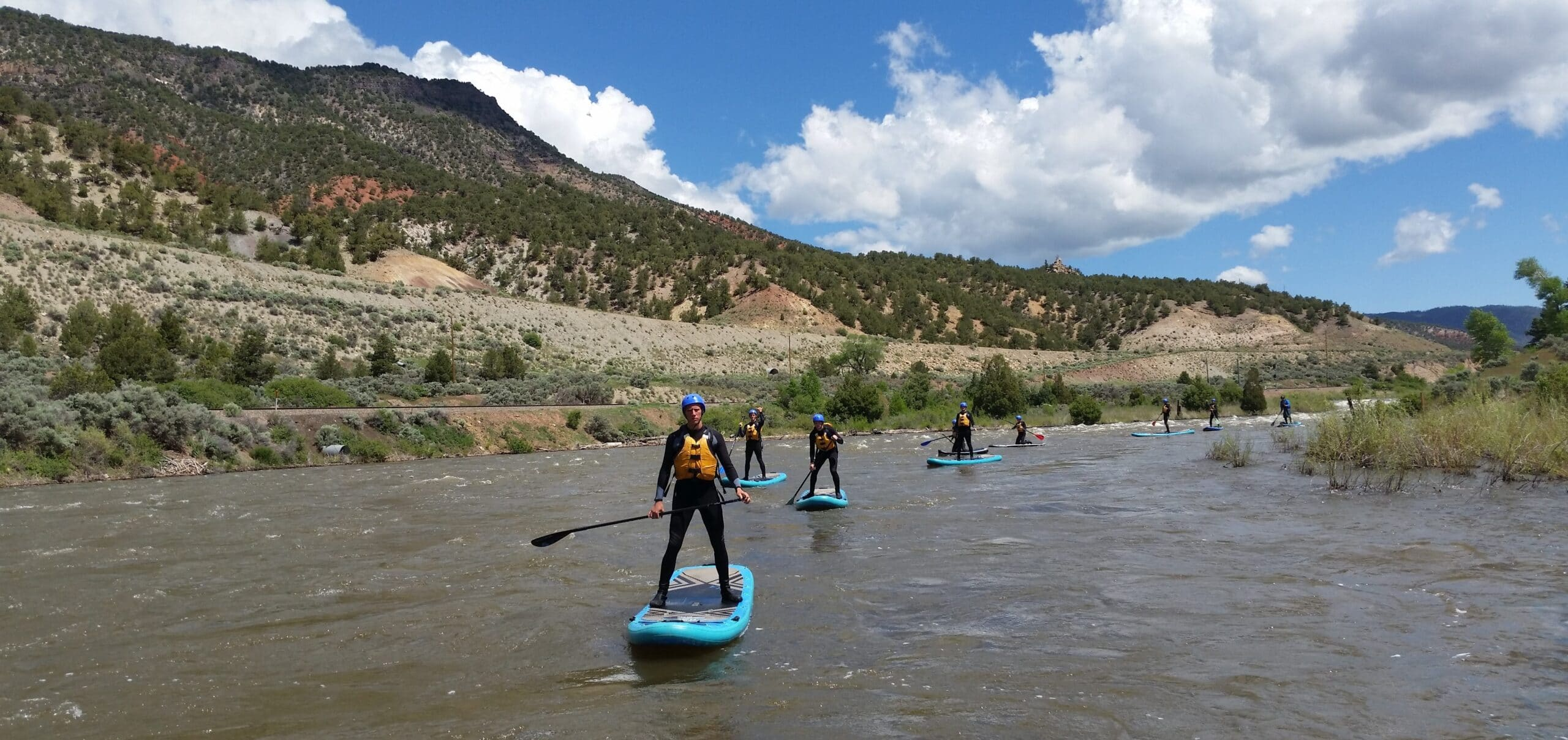 SUP Board Tours on the Arkansas River.