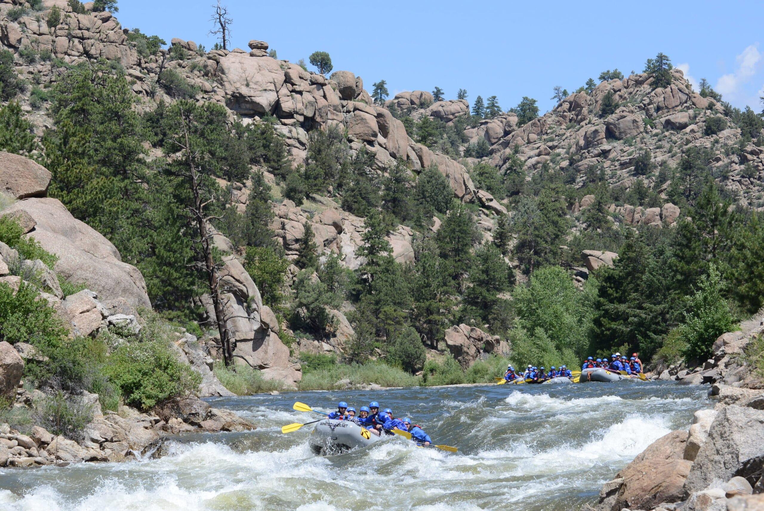 Browns Canyon rafting trips near Buena Vista, Colorado.