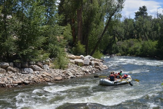 Beginner Rafting Trip in Colorado.