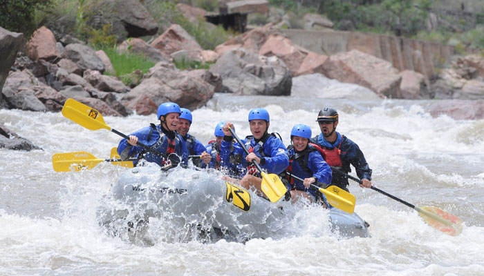 Whitewater rafting in the Royal Gorge.