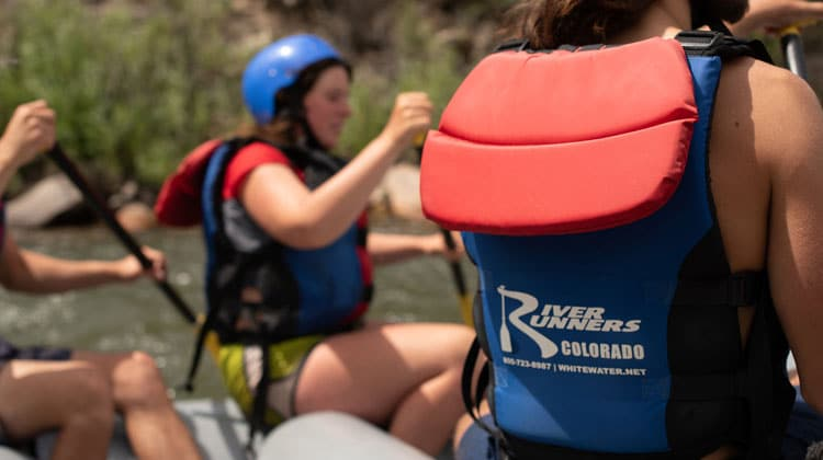 River Runners at the Royal Gorge Raft Guide Training.