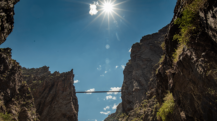 The Royal Gorge in Colorado.