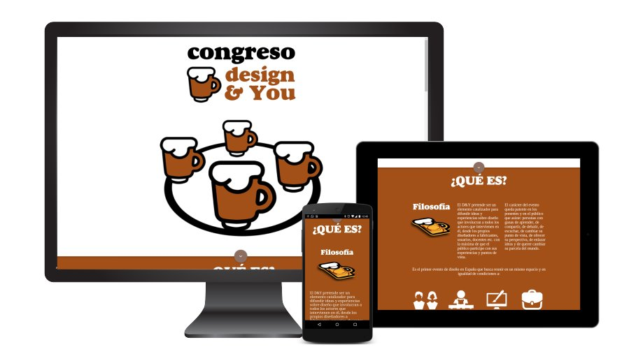Diseño web responsive Congreso design and you