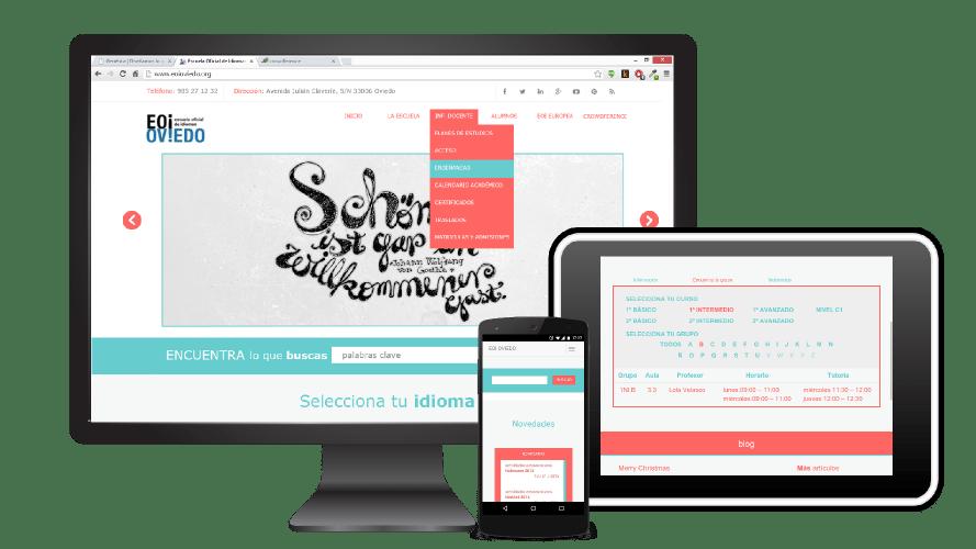Página Web Escuela Oficial de Idiomas de Oviedo