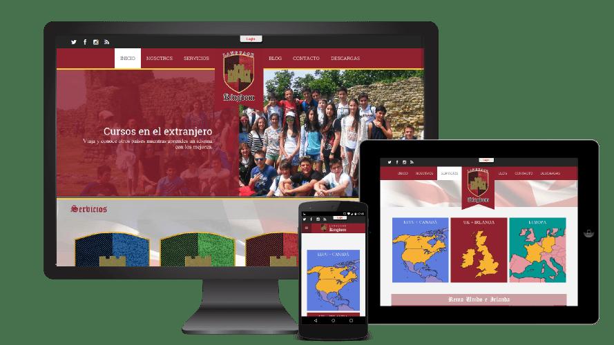 Página Web LK Idiomas