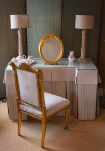 Vanity Table, Chair and Mirror