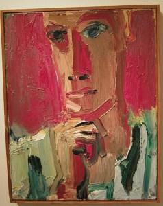 David Park, Red Man in Striped Shirt, Hackett Mill Gallery
