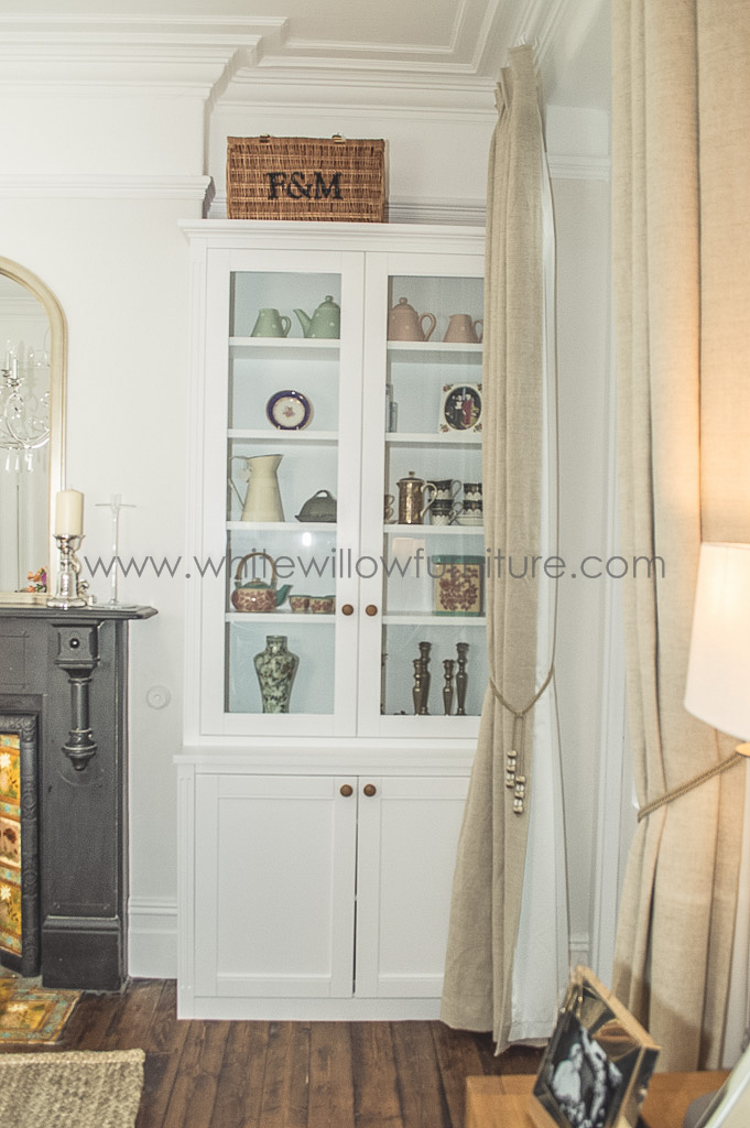 Bespoke alcove cupboards and shelving  White Willow Furniture