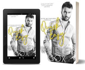 quick and dirty, billionaire romance, romantic comedy, hot sex, dirty sex, romantic holiday, holiday romance, erotic romance, amazon, kindle unlimited, quick and easy, whitley cox