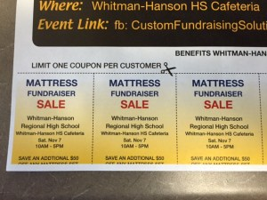 Mattress sales aid WHRHS music