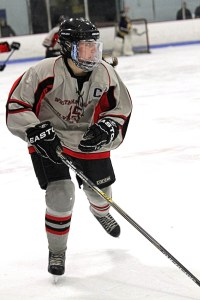 WHSL co-captain Mel McAleer, a junior forward, has been selected to participate in the seventh annual Shriners All-Star Hockey Classic on Saturday, March 26. Photo by Sue Moss