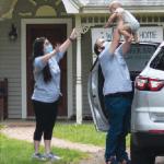 Police escort infant cancer patient