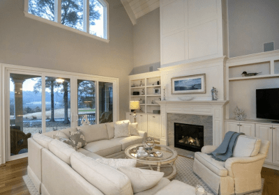 Oyster Bay fireplace