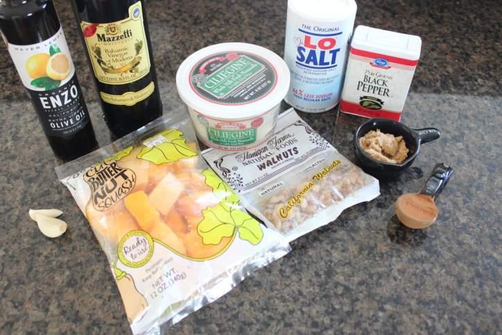 Butternut Squash and Mozzarella Salad Ingredients