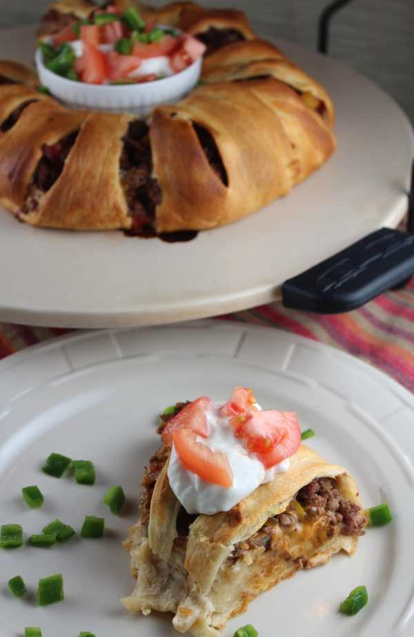 Crescent Roll Taco Ring with a Twist