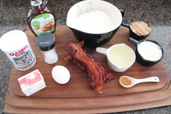 Bacon Maple Brown Sugar Muffin Ingredients