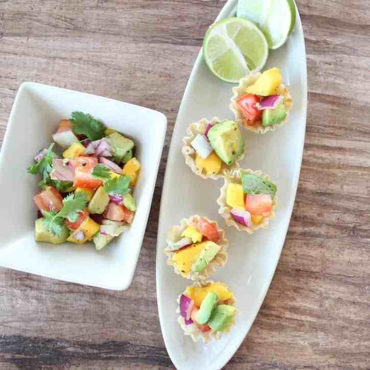 Mango Avocado Fillo Basket Recipe