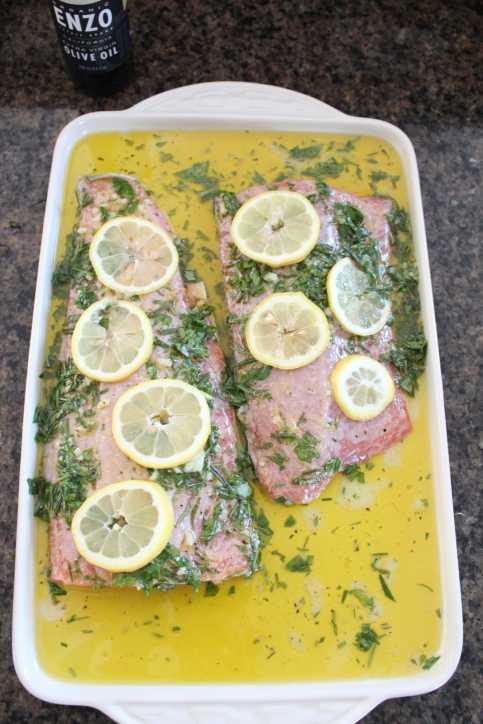 Paleo Lemon Herb Salmon Recipe
