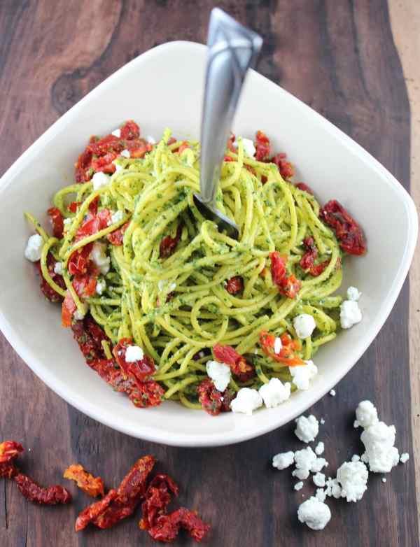 Kale Pesto Spaghetti Recipe