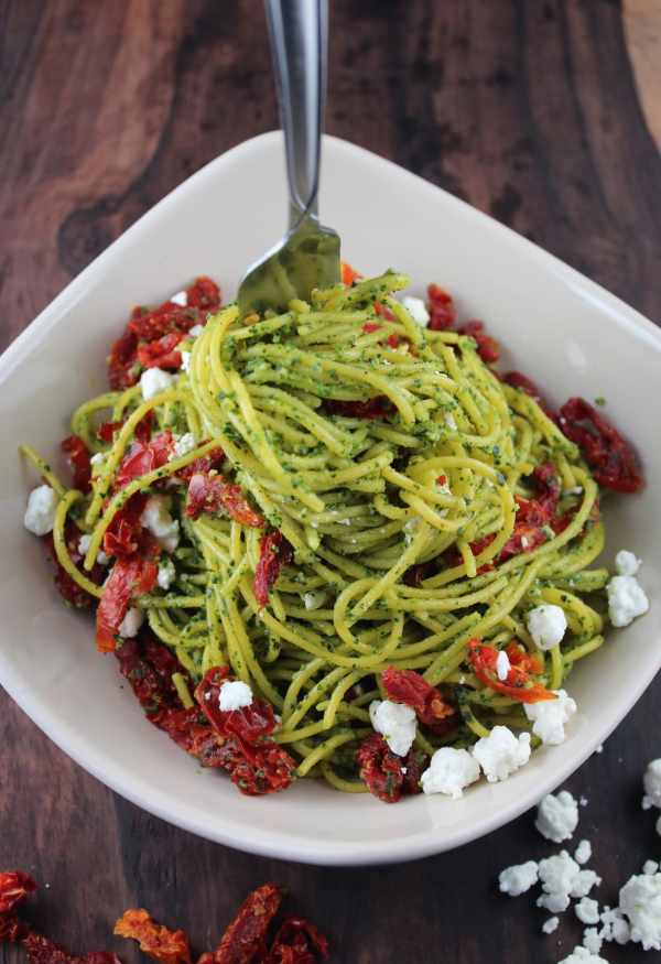 Kale Pesto Spaghetti Recipe