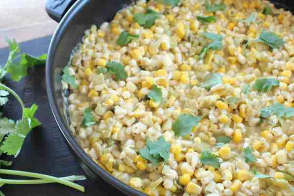 Green Chili Cilantro Creamed Corn