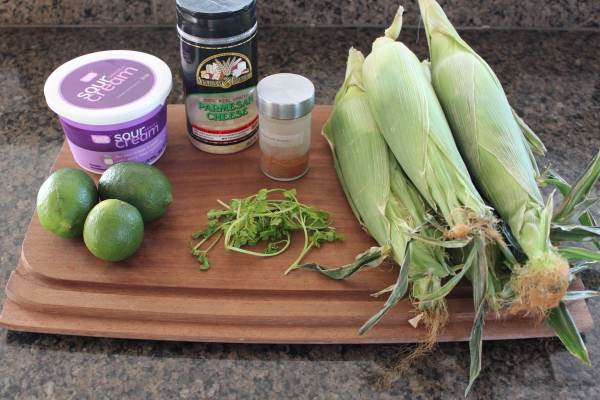 Deconstructed Mexican Street Corn Ingredients