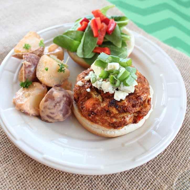 Buffalo Chicken Burger Recipe