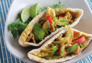 Indian Chicken Curry Pitas
